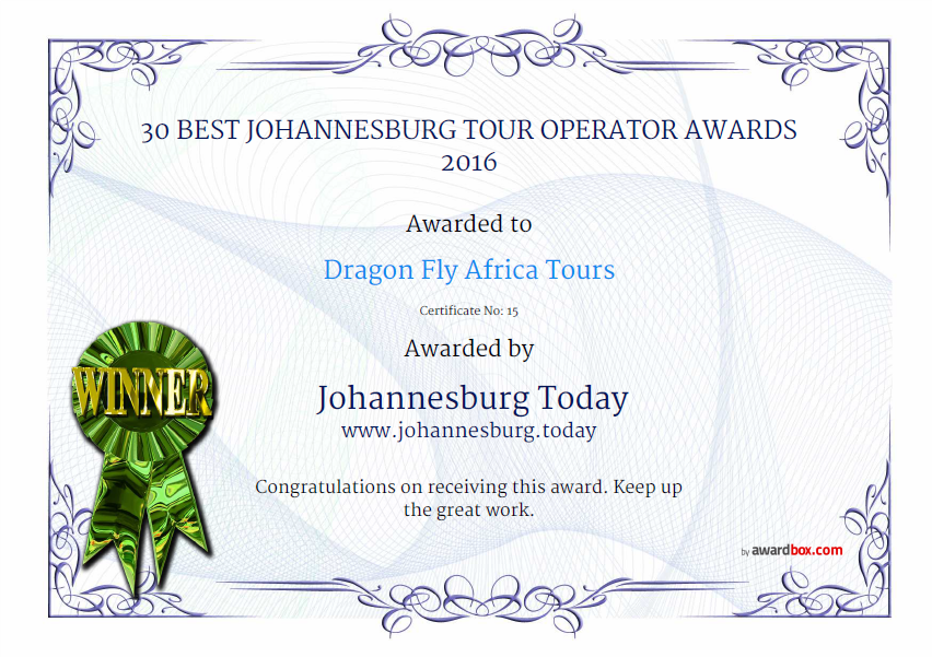 DRAGON FLY TOURS - Johannesburg Today